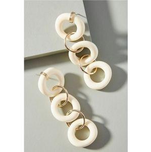 Anthropologie 14k Lilian Drop Earrings